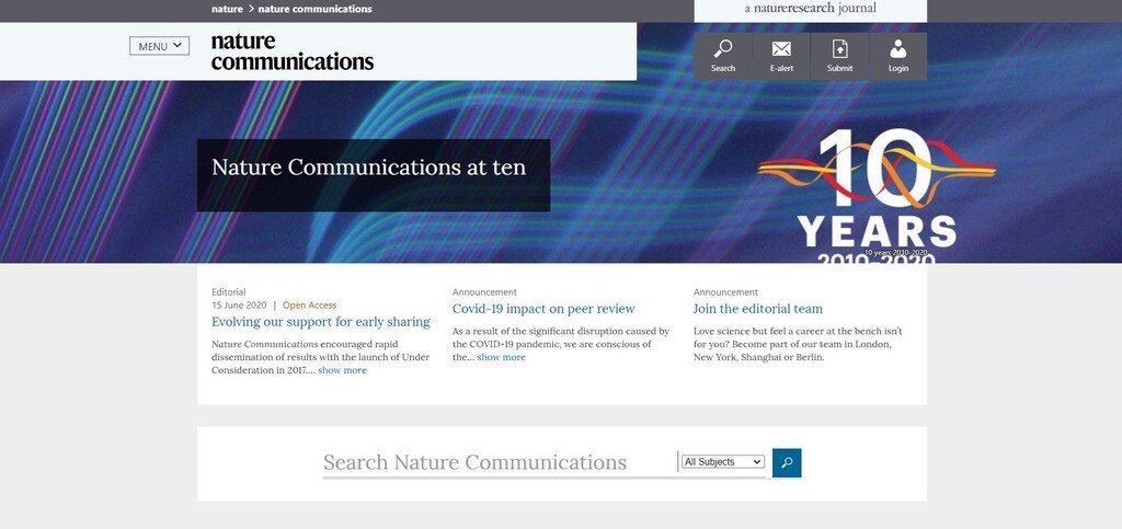 Nature Communications Homepage