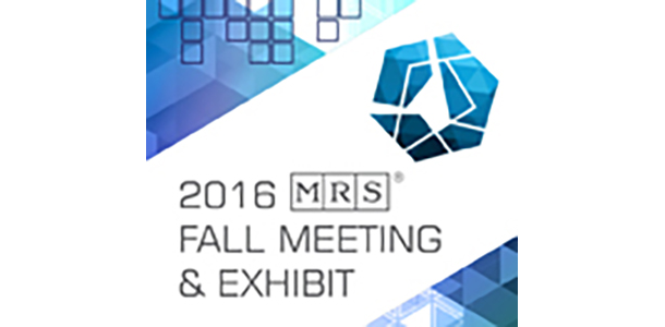 Materials Research Society (MRS) Fall 2016 Meeting