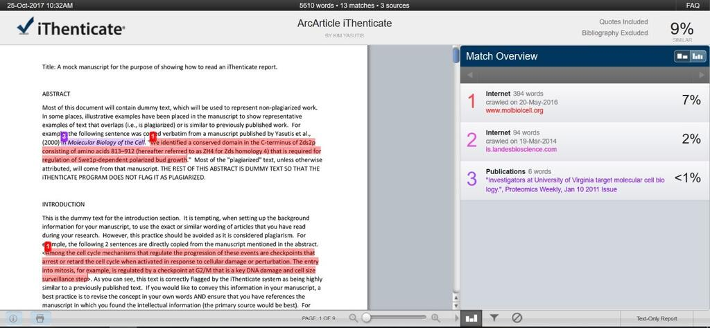 How to Read an iThenticate Report [Includes Example Report] | AJE